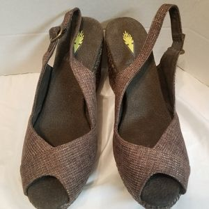 Volatile brown wedges size 9